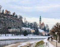 钟楼在萨尔茨堡 库存图片