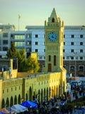 钟楼在街市阿尔贝拉-在伊拉克北部 库存图片