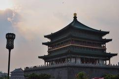 钟楼在西安,陕西,中国 库存照片