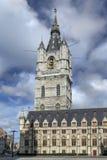 钟楼在跟特-比利时 免版税库存照片