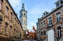 钟楼在阜,比利时,文化的资本 免版税库存照片