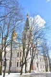 钟楼在Voskresensky Novodevichy女修道院 免版税库存图片