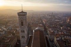 钟楼塔,佛罗伦萨意大利 库存照片