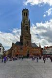钟楼塔-布鲁日,比利时 免版税图库摄影