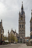 钟楼比利时跟特 库存照片