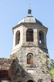 钟楼特罗扬修道院在保加利亚 库存照片