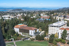 从钟楼的伯克利视图,加利福尼亚 库存照片