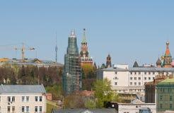 钟楼的恢复在索非亚堤防的 库存图片
