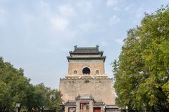 钟楼的细节在北京,中国 库存图片