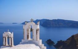 钟楼,圣托里尼希腊 免版税图库摄影