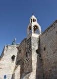 钟楼,诞生的教会,伯利恒 免版税库存照片