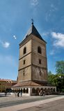钟楼-在KoÅ ¡冰的圣Urban's塔 库存照片