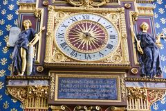 钟楼(游览de l'Horloge) -巴黎 免版税库存照片