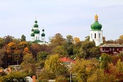 钟楼Eletsky妇女monasteyr 17世纪和教会  库存图片
