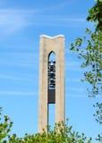 钟琴德顿市俄亥俄公园塔 库存照片