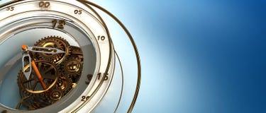钟表机构背景 免版税图库摄影