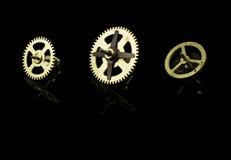 钟表机构齿轮 免版税库存照片