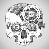 钟表机构头骨 向量例证