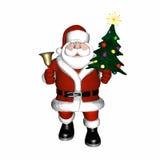 钟铃声圣诞老人 库存图片
