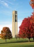 钟琴钟楼在秋天 免版税库存照片
