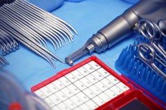 钢。工具。手术。 免版税库存图片