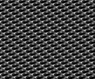 钢与来回漏洞的网格行业无缝的背景 免版税图库摄影