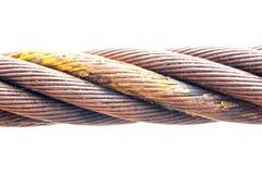 钢丝绳由钢制成 免版税库存照片