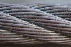 钢丝绳缆绳 库存图片