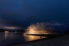 钢丝绒闪烁发光物在巴洛赫公园 免版税库存图片