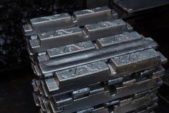 钢制件在制造业工厂 库存照片