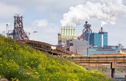 钢厂 免版税库存照片