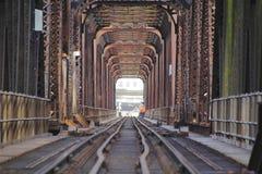 钢和大梁火车桥梁 库存图片