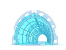 未来派的隧道 皇族释放例证