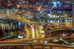 钢城市梦想 库存照片