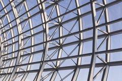 钢屋顶建筑现代建筑学细节 图库摄影