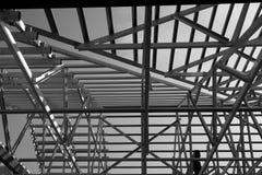 钢屋顶框架结构  库存照片