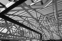 钢屋顶框架结构  库存图片