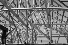 钢屋顶框架结构  免版税库存照片