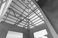 钢屋顶黑色和白08 库存照片
