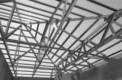 钢屋顶黑色和白13 图库摄影
