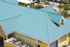 钢屋顶绿色 免版税图库摄影