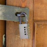 钢数字号码锁 库存照片