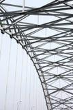钢曲拱结构 库存图片
