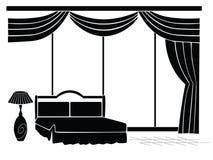 钢板蜡纸卧室 免版税图库摄影