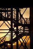 钢栅格结构 免版税库存图片