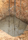 钢标尺用于加强混凝土 库存图片