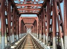 钢桥梁在阿格拉,印度 免版税库存图片