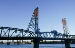 钢桥梁,波特兰俄勒冈 免版税库存图片