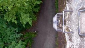 钢梯子从上面 免版税库存图片
