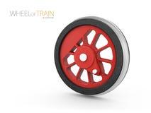 钢火车轮子, 3d例证隔绝了白色 向量例证